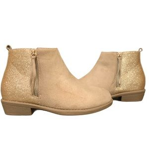 Girl's Youth Glitter Back Zip Up Booties
